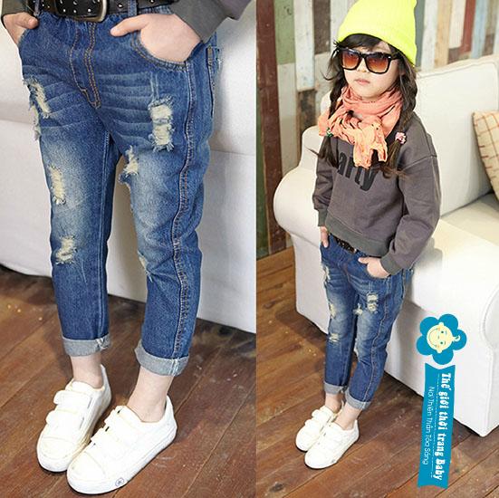 Cơn Sốt Quần Jean Trẻ Em Xuất Khẩu Dành Cho Bé Trai Và Gái Với Style Lạ Lẫm