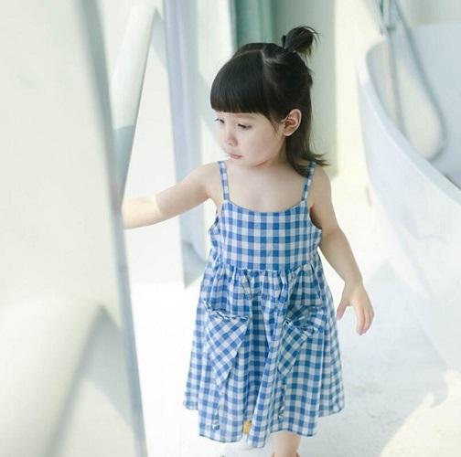 Quần Áo Bé Gái Dễ Thương Màu Xanh Baby Xua Tan Cái Nóng Mùa Hè