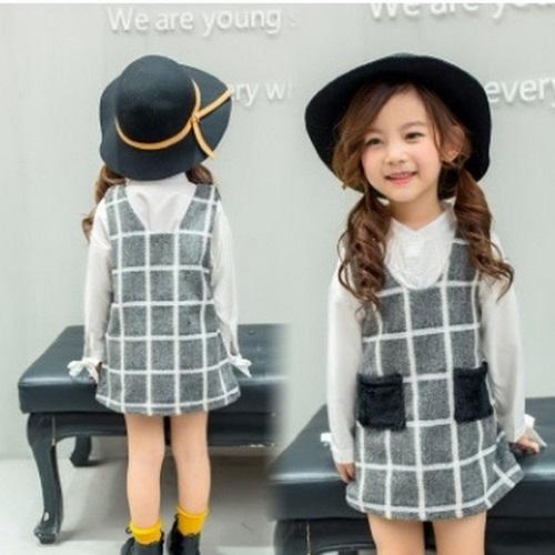 Nhiều Kiểu Váy Kẻ Caro Cho Bé Gái Diện Trong Mùa Hè Này
