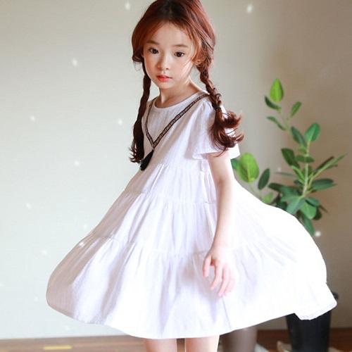 Xu Hướng Đầm Hàn Quốc Bé Gái Lên Ngôi: Đầm Thủy Thủ