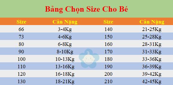chọn size chuẩn cho bé